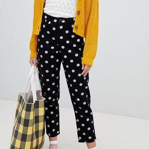 Size 30 Monki Polka Dot Jeans